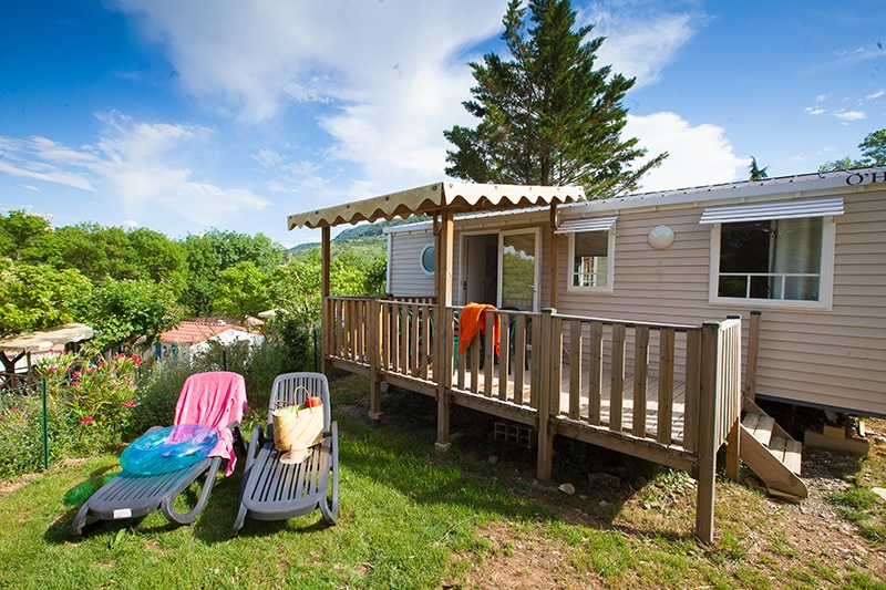 Location de mobil-homes, chalets à Ardèche Camping, Privas
