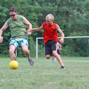 camping avec terrain de football
