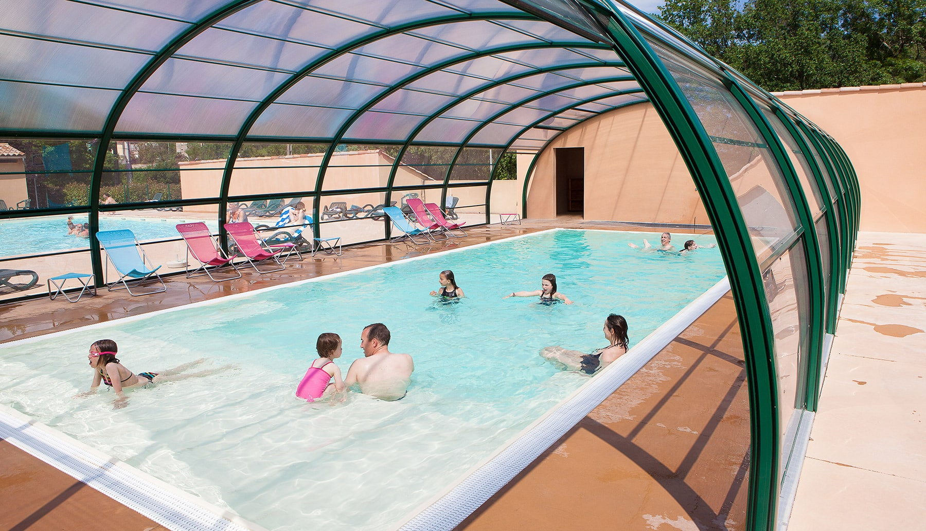 High Quality Piscine Couverte Chauffee Ardeche Camping