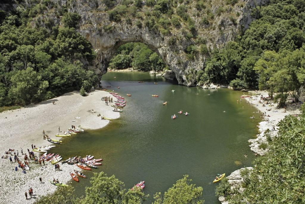 Le Pont d'Arc et les Gorges de l'Ardèche à Vallon