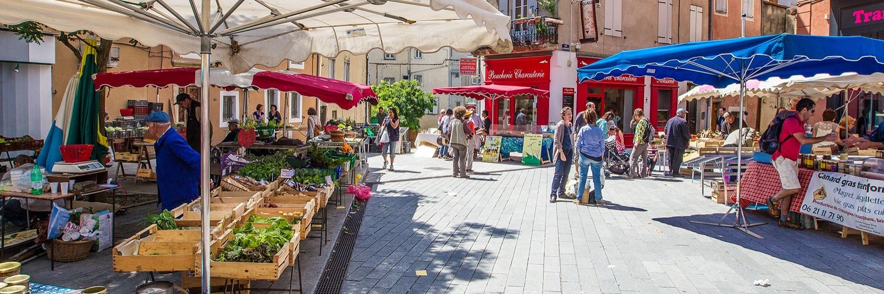 Gastronomie, Produkte der Region und Erzeugermärkte